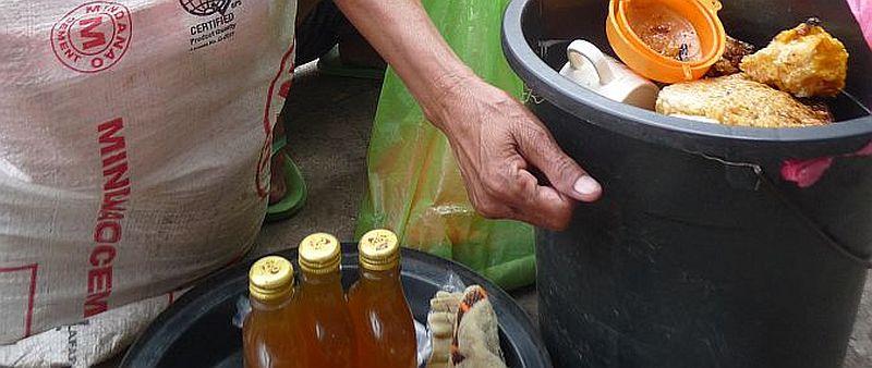 Honigverkäuferin