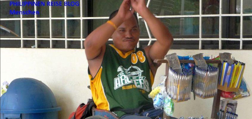 Behinderter Kugelschreiberverkäufer