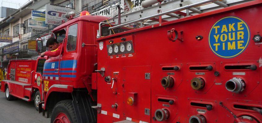 Feuerwehreinsatz in der Großstadt