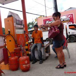 Kochgas an der Autogas Tankstelle
