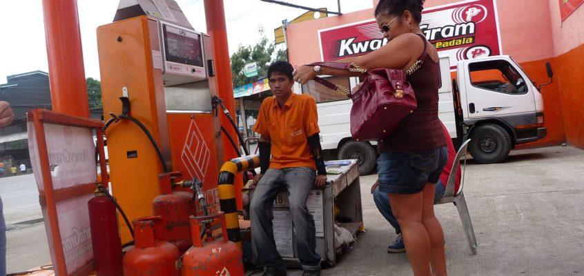 Kochgas an der Autogas-Tankstelle