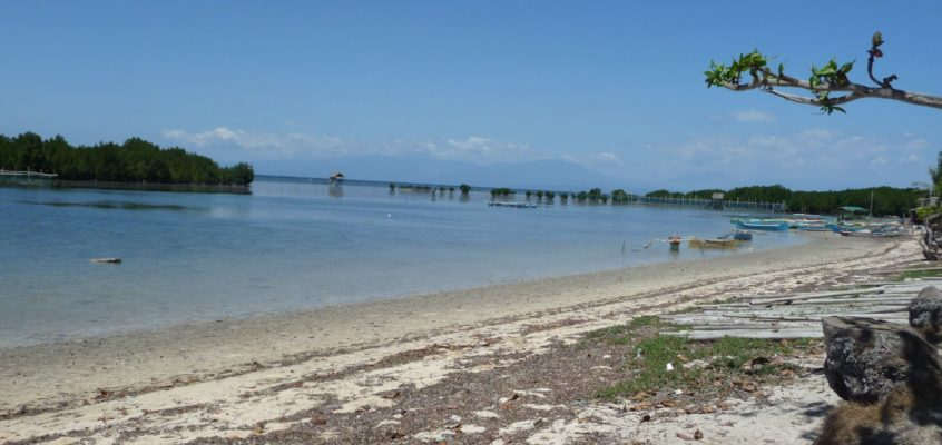 Am Strand von Laguindingan in Misamis Oriental