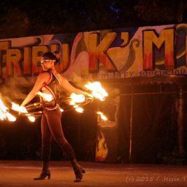 PHILIPPINEN REISEN BLOG - Feuertanz und Feuer-Show im Davao Crocodile Park