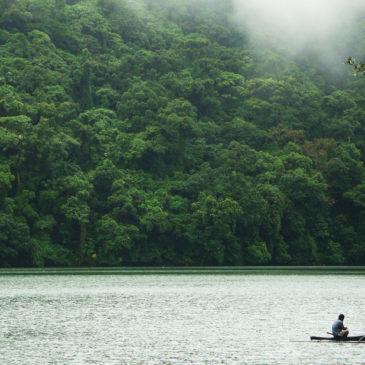 Der Bulusan See in Bulusan