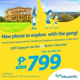 PHILIPPINEN REISEN BLOG - Neue Flugrouten von Cebu Pacific zwischen Cagayan de Oro, Tagbilaran und Bacolod