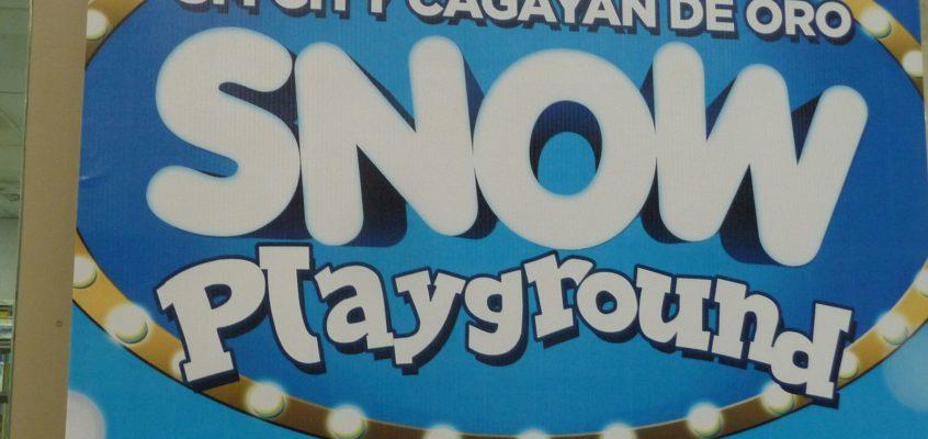 Schnee-Spielplatz in Cagayan de Oro