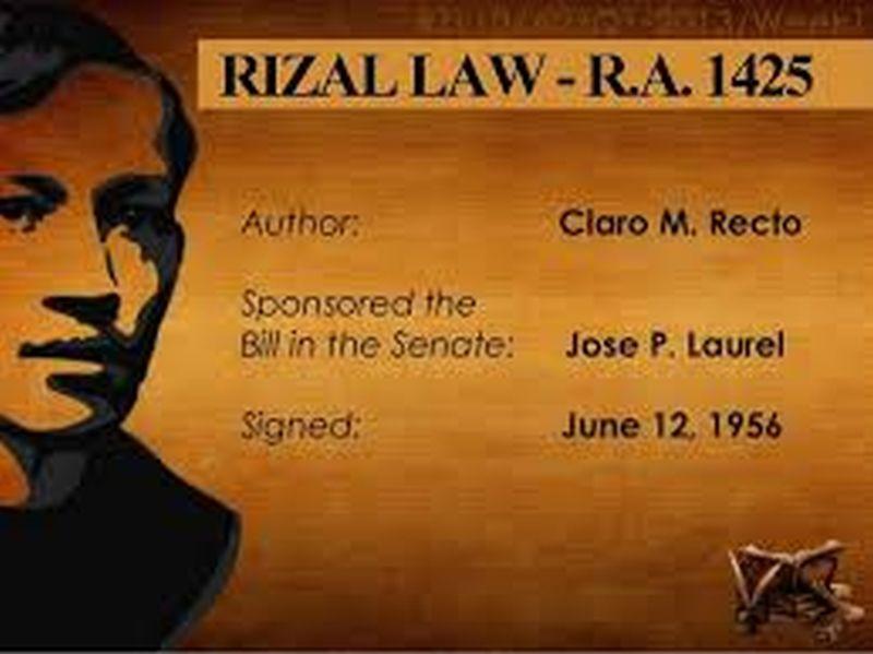 AUS DER GESCHICHTE: Vor dem Fortpflanzungsgesetz gab es das Rizal-Gesetz