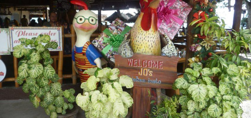 Mittagessen im Jo's Chicken Inato in Sibulan