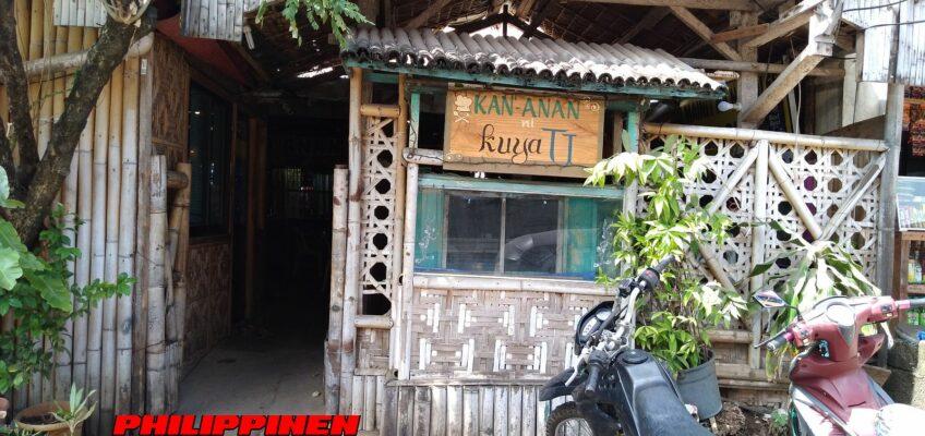 PHILIPPINEN BLOG - Urige 'Eatery' in Talisayan Foto von Sir Dieter Sokoll für PHILIPPINEN MAGAZIN