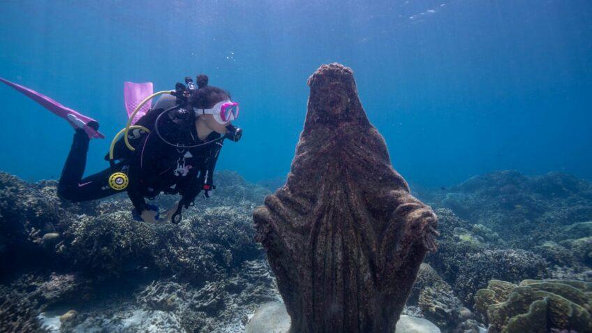 PHILIPPINEN BLOG - Unterwasser-Statuen in Alegria