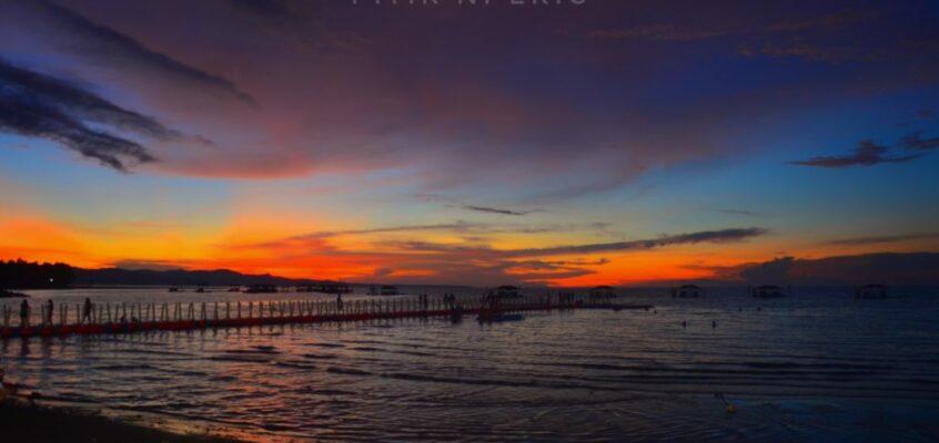 Majestätische Sonnenuntergangsbeobachtung im Amontay Beach Resort in Agusan Del Norte