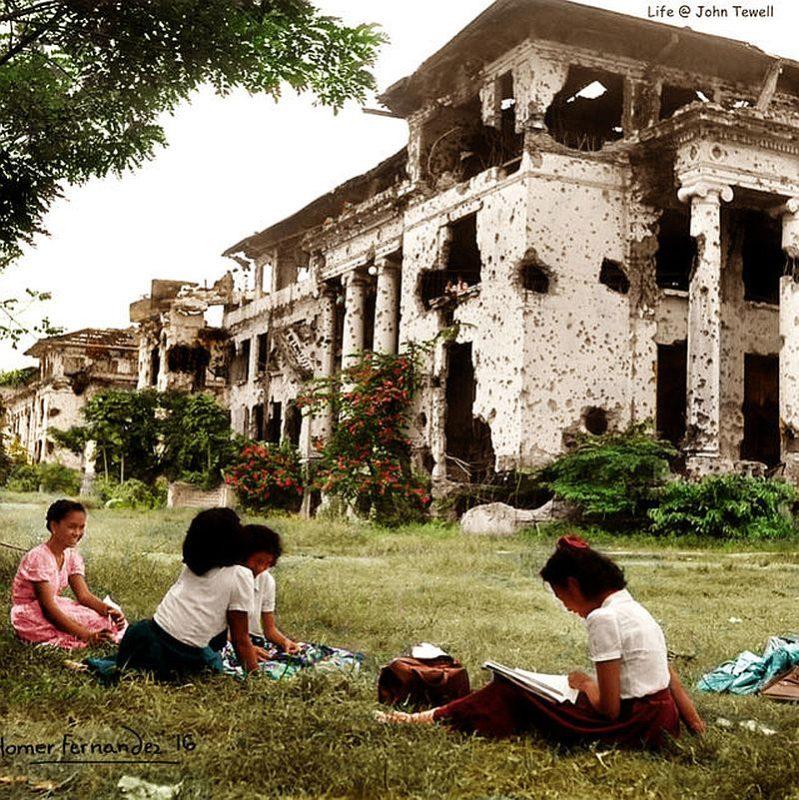 PHILIPPINEN REISEN - GESCHICHTE - COLORIERTE FOTOS - Photograph from John Tewell. Colorized by Homer Fernandez.